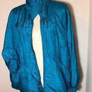 Vintage Primrose Turquoise Nylon Jogger Size 2x